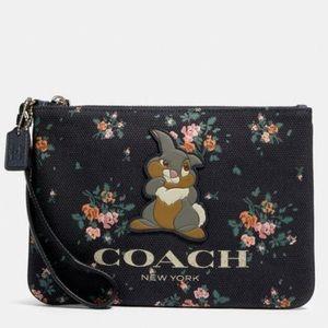 Disney x Coach Gallery Pouch Thumper Rose Bouquet